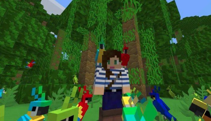 Cómo domesticar Loros en Minecraft