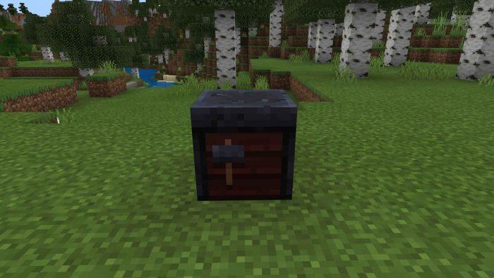 Minecraft - Cómo hacer una mesa de Herrería (1.14) 2