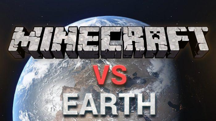Minecraft - El tamaño de un mapa comparado con el planeta Tierra