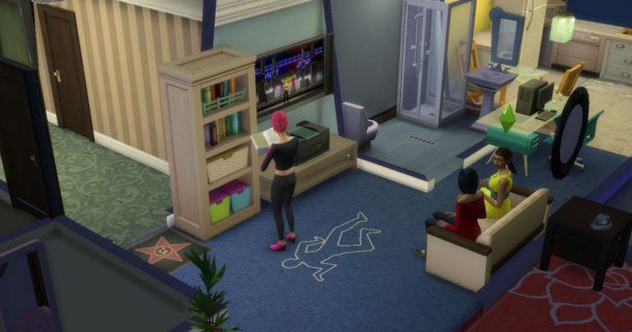 Los Sims 4 -  Este apartamento barato es en realidad una escena del crimen 1