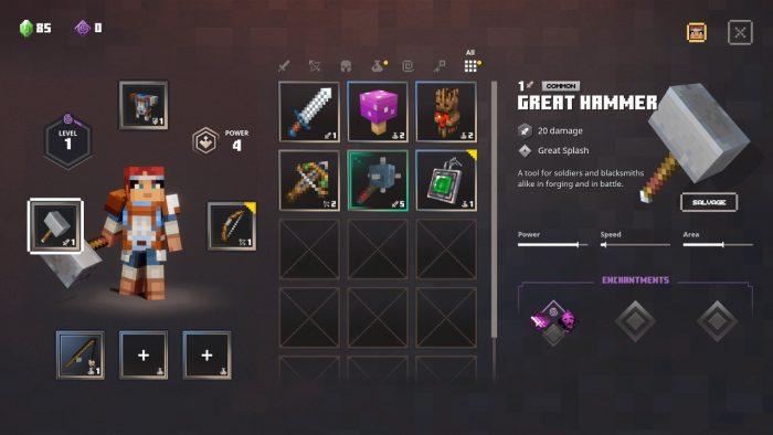 Minecraft Dungeons - Cómo encantar tus armas y subirlas de nivel