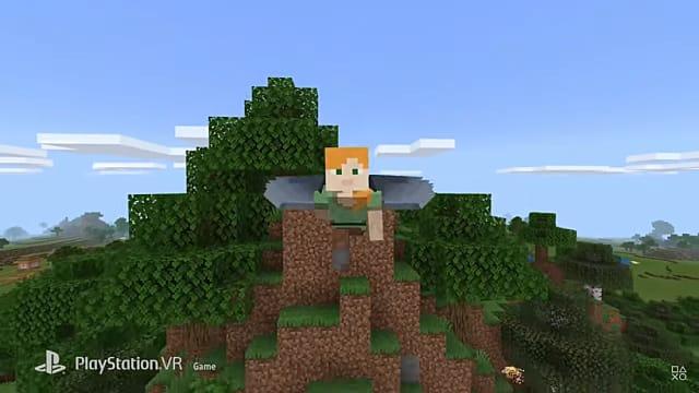 Minecraft VR cobra vida en PlayStation 4