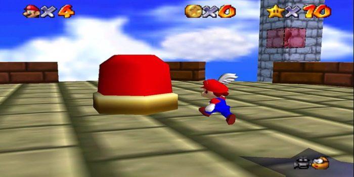 Super Mario 64 - Dónde encontrar el botón rojo y desbloquear los bloques rojos 1