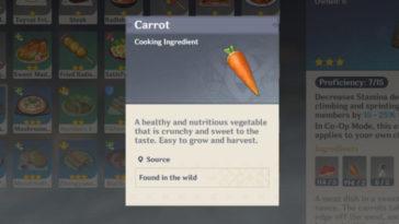 Genshin Impact - Dónde encontrar Zanahorias 2