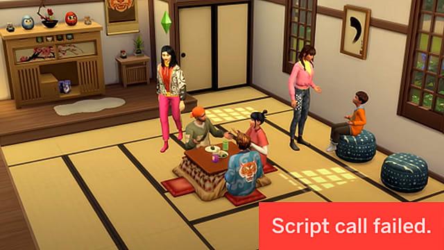 Los Sims 4 - Solucionar errores de carga tras actualizar (Script Call Failed) 1