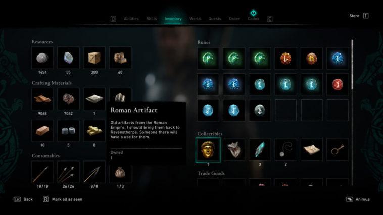 Assassin's Creed Valhalla - Artefactos Romanos. Qué hacer con ellos 2