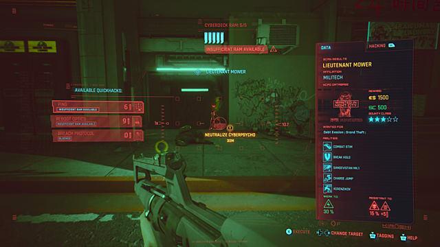 Cyberpunk 2077 - Recompensas y crímenes callejeros 1