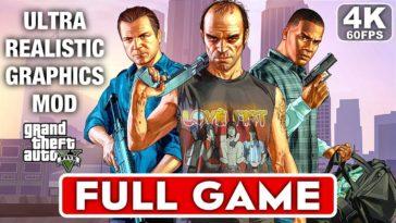 Grand Theft Auto 5 - Walkthrough/Gameplay Ultrarealístico [4K 60FPS] [ENG]