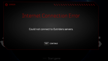 Outriders - Cómo solucionar el error de conexión: No se pudo conectar a los servidores (Could Not Connect to Servers)