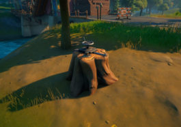 Dónde encontrar un Dead Drop en Weeping Woods en Fortnite 1