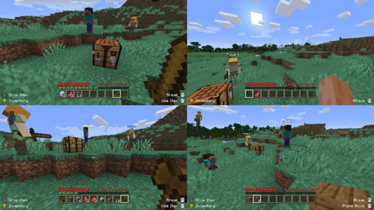 Cómo usar la pantalla dividida en Minecraft
